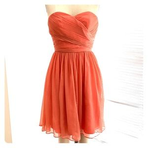 J.Crew - CORAL Silk Chiffon Dress.